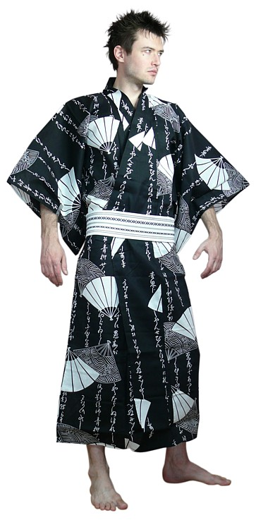 Japanese man's cotton yukata. Japanese men's wraps and ...