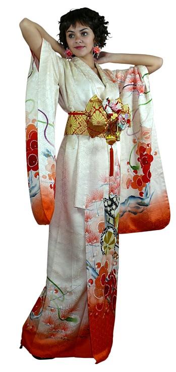 japanese traditional white wedding kimono