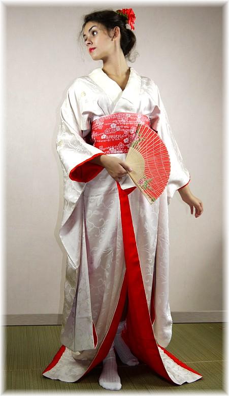 Japanese Silk Brocader Wedding Kimono Vintage Kimonos